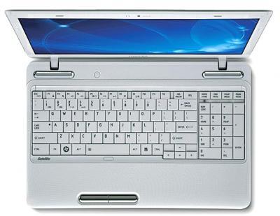 Ноутбук Toshiba Satellite L655-19D - вид сверху