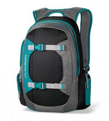 Рюкзак городской Dakine MISSION PACK TEAL BLOCKS - спереди