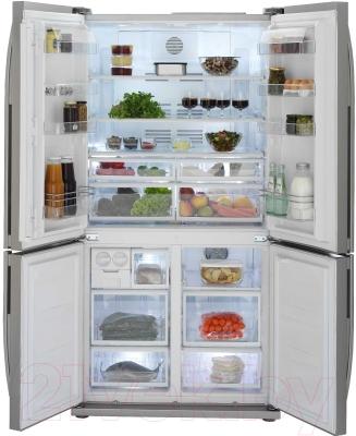 Холодильник с морозильником Beko GNE114610FX