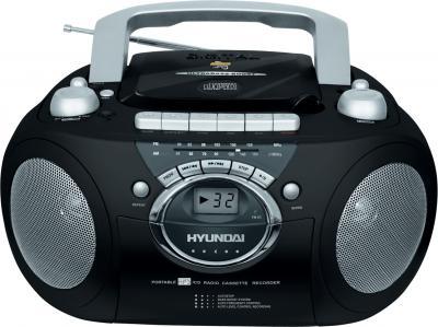 Магнитола Hyundai H-1402 Black - вид спереди
