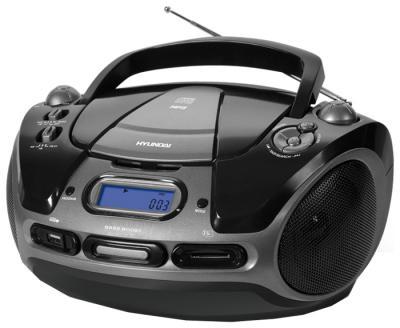 Магнитола Hyundai H-1434 Black - вид спереди