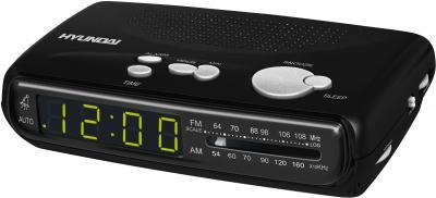 Радиочасы Hyundai H-1501  (Black) - общий вид
