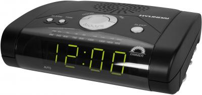 Радиочасы Hyundai H-1504  (Black-Green) - общий вид
