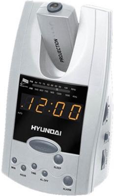 Радиочасы Hyundai H-1506  (Silver-Orange) - вид спереди