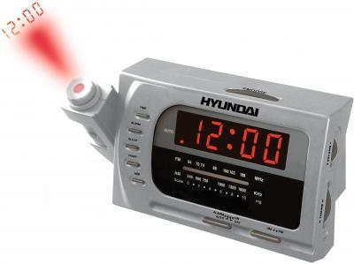 Радиочасы Hyundai H-1511  (Silver-Red) - общий вид