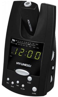 Радиочасы Hyundai H-1506  (Black-Green) - общий вид
