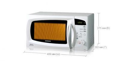 Микроволновая печь Samsung M187DMR/BWT - вид спереди