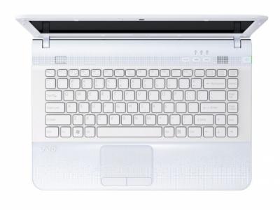 Ноутбук Sony VAIO VPC-EC4M1R/WI - сверху