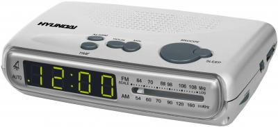 Радиочасы Hyundai H-1501  (Silver) - общий вид