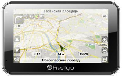 GPS навигатор Prestigio GeoVision 5500 (PGPS5500CIS2SMNV) - фронтальный вид