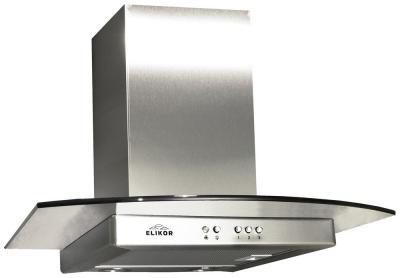 Вытяжка Т-образная Elikor Кристалл 60Н-430-К3Г (нержавеющая сталь) - вид спереди