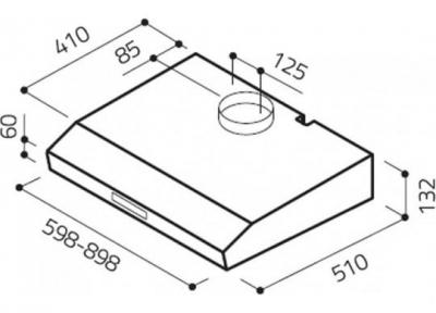 Вытяжка плоская Elica KREA LUX GFA WH/F/50 - схема