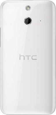 Смартфон HTC One Dual / E8 (белый) - вид сзади