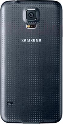 Смартфон Samsung Galaxy S5 / G900F (черный) - вид сзади