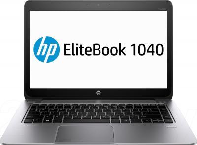 Ноутбук HP EliteBook Folio 1040 G1 (F6Z38ES) - фронтальный вид