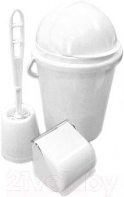 Набор для туалета Белпласт с218-2830 (белый) - общий вид