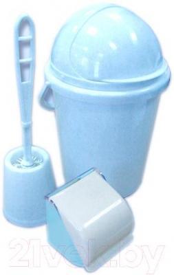 Набор для туалета Белпласт с218-2830 (голубой) - общий вид