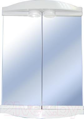 Шкаф с зеркалом для ванной Белпласт с362-2830 - общий вид