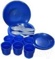 Набор пластиковой посуды Белпласт Пикник 2 с395-2830 (зеленый) -