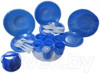 Набор пластиковой посуды Белпласт Пикник с215-2830 (зеленый) -