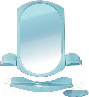 Комплект мебели для ванной Белпласт Купалинка с275-2830 (голубой) - общий вид