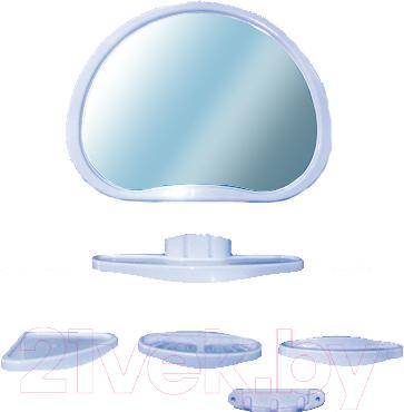 Комплект мебели для ванной Белпласт Уют с347-2830 (голубой) - общий вид