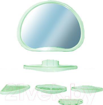 Комплект мебели для ванной Белпласт Уют с347-2830 (салатовый) - общий вид