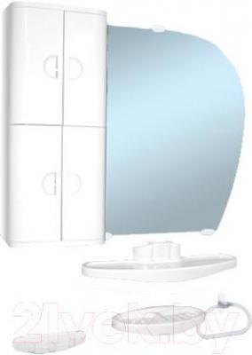 Комплект мебели для ванной Белпласт с346-2830 (белый) - общий вид