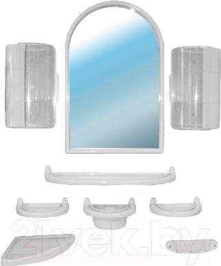 Комплект мебели для ванной Белпласт с300-2830 (белый) - общий вид