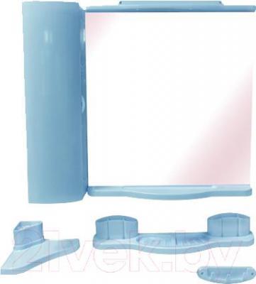 Комплект мебели для ванной Белпласт Элегант с420-2830 (голубой) - общий вид