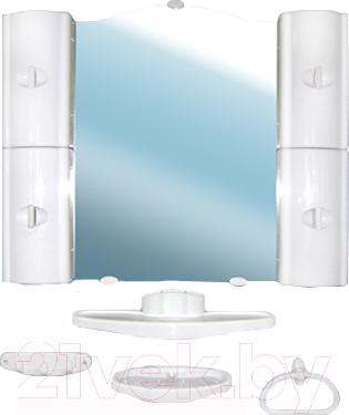 Комплект мебели для ванной Белпласт с318-2830 (белый) - общий вид