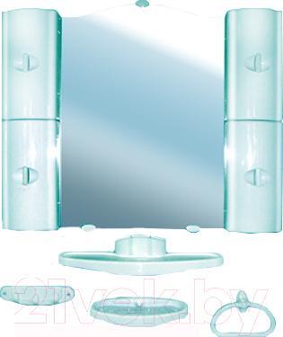 Комплект мебели для ванной Белпласт с318-2830 (бирюзовый) - общий вид