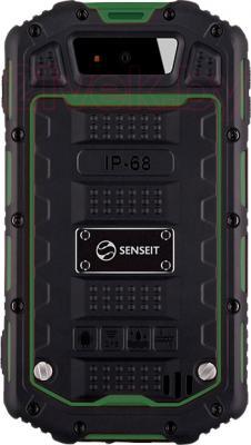 Смартфон Senseit R390 (зеленый) - вид сзади