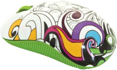 Мышь Ritmix RMW-210 Graffiti (зеленый) - общий вид