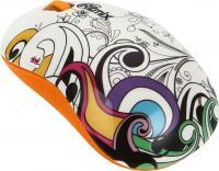 Мышь Ritmix RMW-210 Graffiti (оранжевый) -