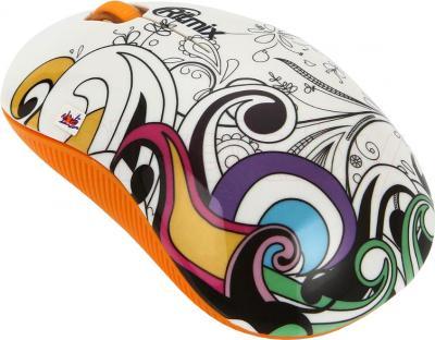 Мышь Ritmix RMW-210 Graffiti (оранжевый) - общий вид