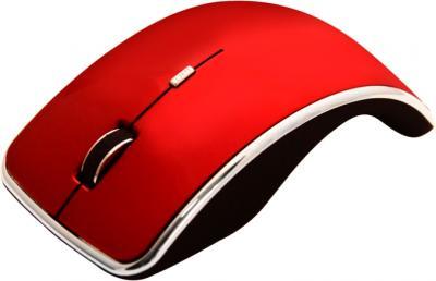 Мышь Ritmix RMW-240 Arc (красный) - вид сбоку