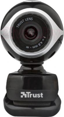 Веб-камера Trust Exis Webcam (Black-Silver) - фронтальный вид