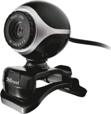 Веб-камера Trust Exis Webcam (Black-Silver) - общий вид