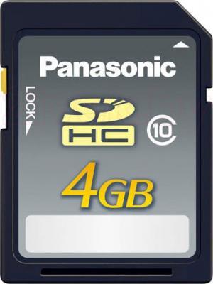 Карта памяти Panasonic SDHC (Class 10) 4GB (RP-SDRB04GAK) - общий вид