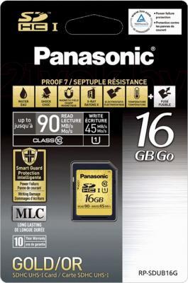 Карта памяти Panasonic SDHC UHS-I (Class 10) 16GB (RP-SDUB16GAK) - общий вид