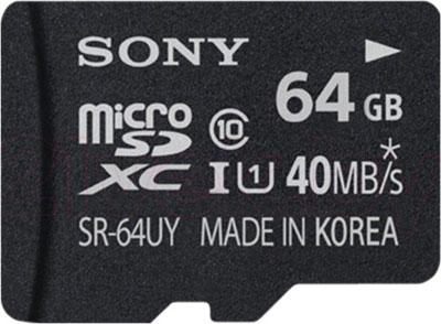 Карта памяти Sony microSDXC UHS-I (Class 10) 64GB (SR64UYAT) - общий вид