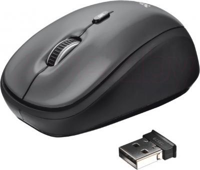 Мышь Trust Yvi Wireless Mini Mouse (черный) - общий вид