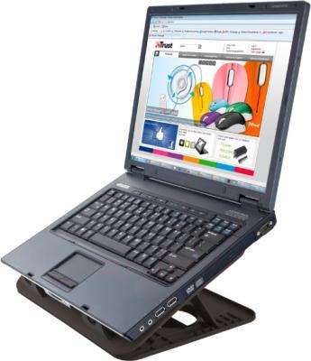 Подставка для ноутбука Trust Cyclone Notebook Cooling Stand - с ноутбуком