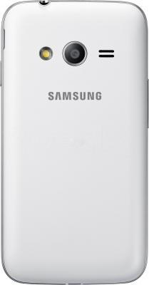 Смартфон Samsung Galaxy Ace 4 Duos / G313HU/DS (белый) - вид сзади