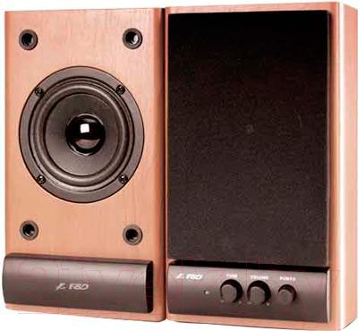 Мультимедиа акустика F&D R215 (бук) - общий вид