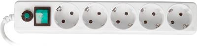 Сетевой фильтр Гарнизон EHLW-5 (белый) - общий вид
