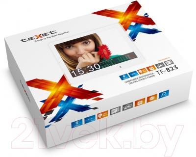 Цифровая фоторамка TeXet TF-823 (белый)