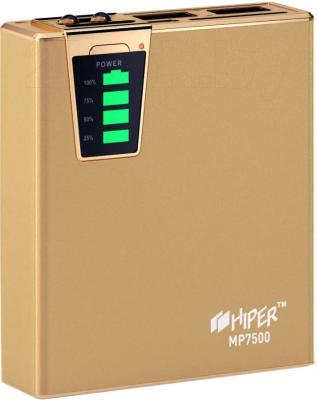 Портативное зарядное устройство Hiper MP7500 (золотой) - общий вид