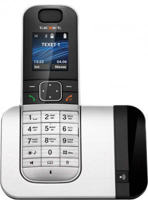 Беспроводной телефон TeXet TX-D7605A (Black-Silver) - общий вид